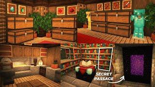 Minecraft | How to Build Survival Basement with Secret Passage