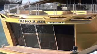 Ship FRONTENAC & super-yacht KHALILAH on Welland Canal
