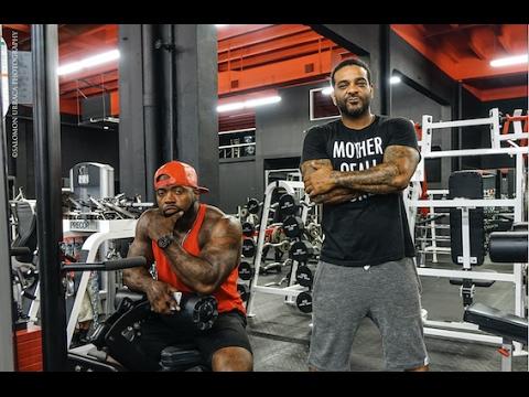 Jim Jones & Mike Rashid training arms going hard in Miami