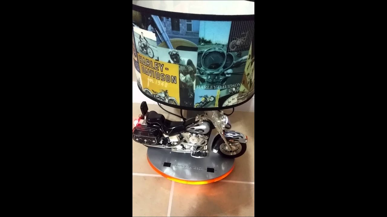 2004 Harley Davidson Heritage Softail Table Lamp And Night