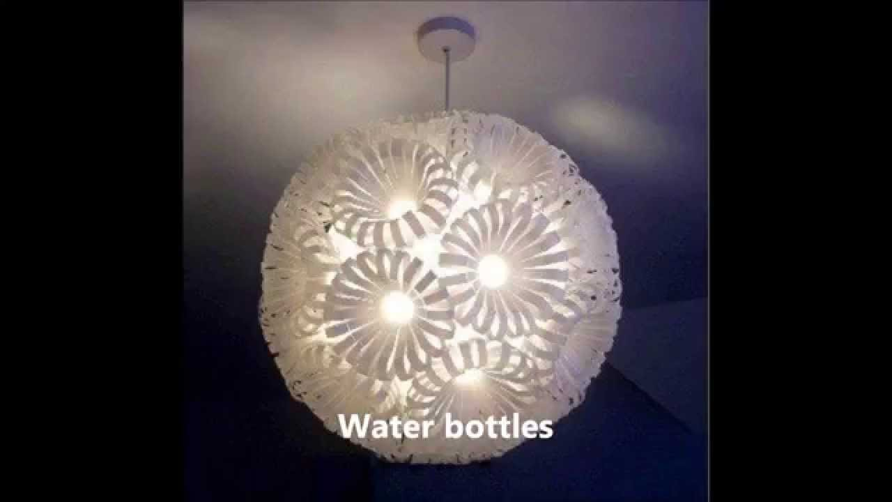 DIY lights and lamps with recycled materials - YouTube