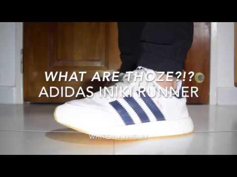 What Are Thoze?!? Adidas Iniki Runner (WhiteNavyGum) On Feet