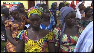 82  released Chibok girls arrive Presidential Villa