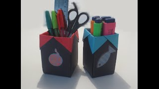 HOW TO MAKE AN AMAZING ORIGAMI PEN HOLDER ?