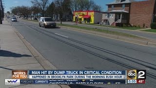 Man hit by dump truck on Ritchie Highway in Anne Arundel County