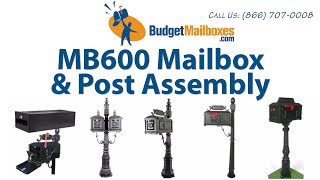 Budget Mailboxes | Mb600 Mailbox & Post Assembly