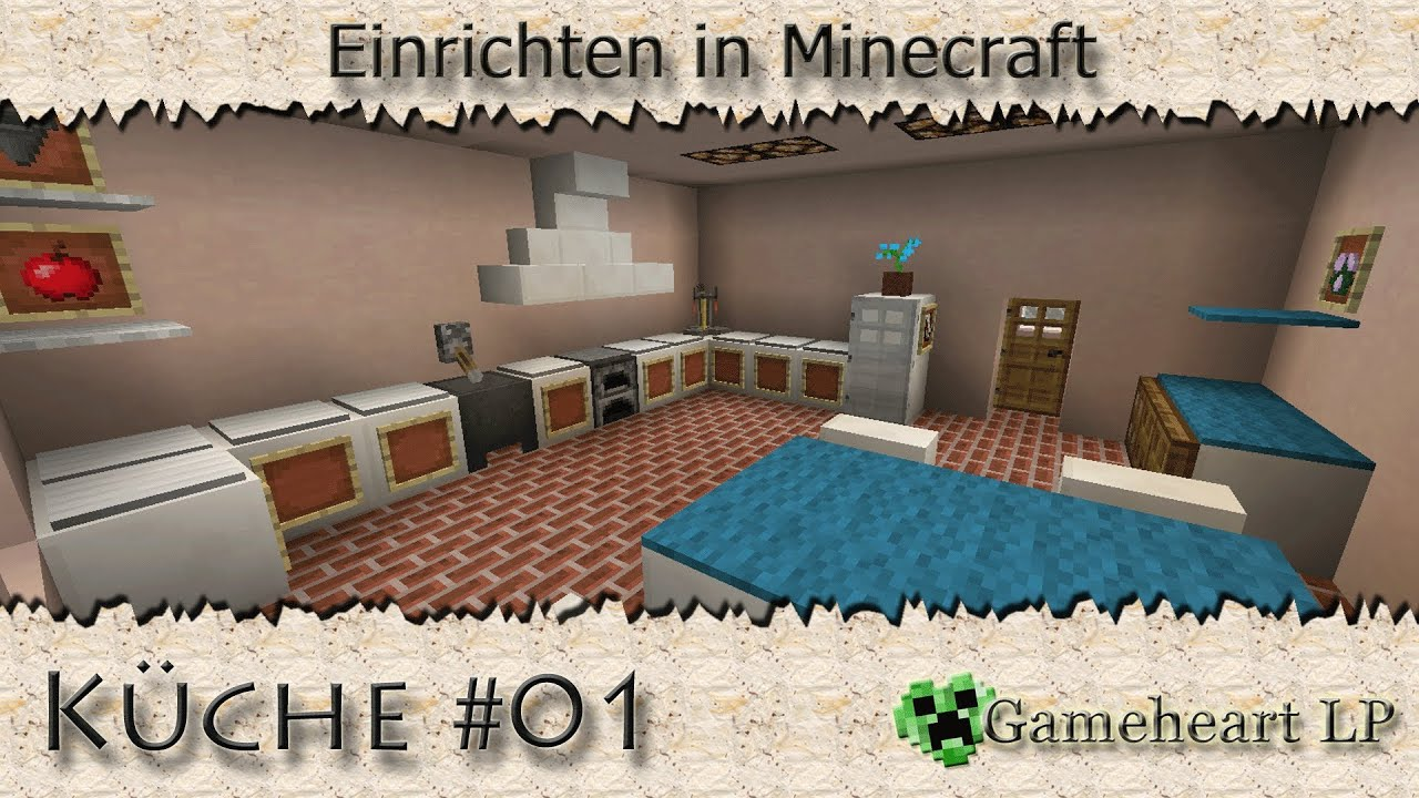 MINECRAFT - Küche #01 / Einrichten in Minecraft - YouTube