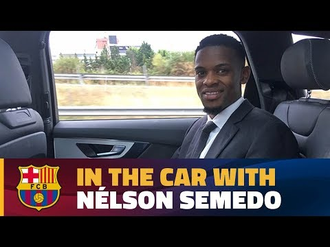 Semedo's chat in the car on his way to the Camp Nou!