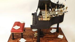Bar Mitzvah Piano Cake