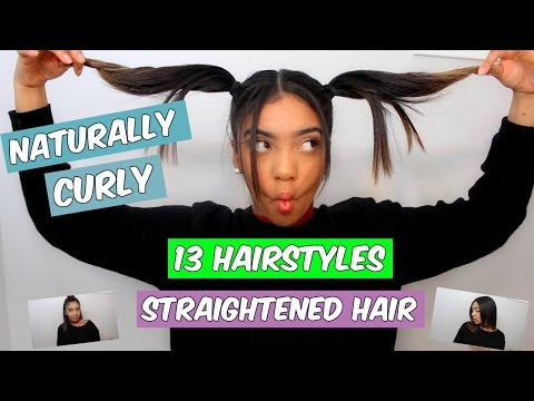 13 HAIRSTYLES FOR STRAIGHTENED NATURAL HAIR