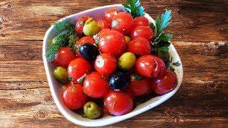 """""""Расплющенный салат"""" из помидор."""