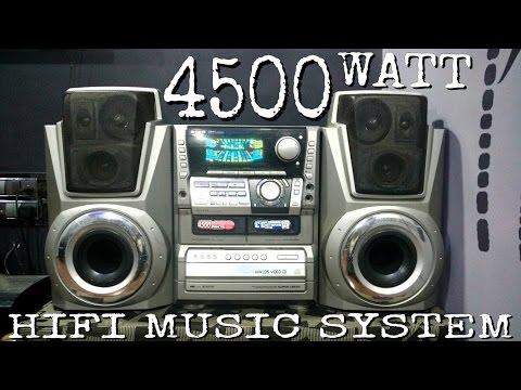 Aiwa 4500 watt pmpo hifi music system