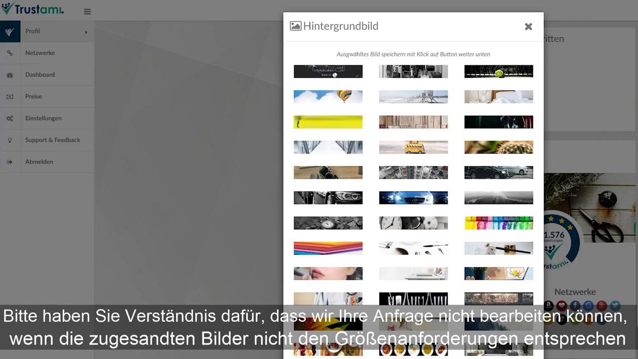Profilbild ändern (Hintergrund) | Hilfe - YouTube