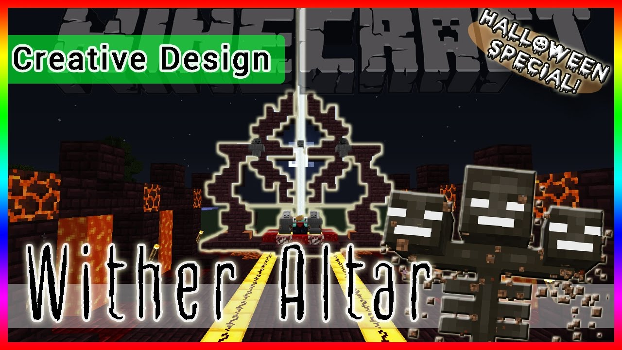 Minecraft How To Make A Wither Altar Sss Design Youtube