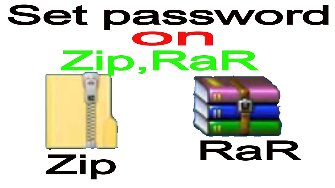 password for zip file windows 10