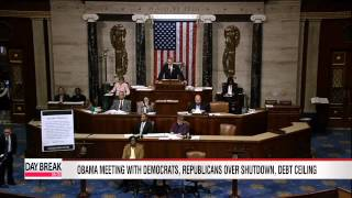 Obama meeting with Democrats, Republicans over shutdown, debt ceiling