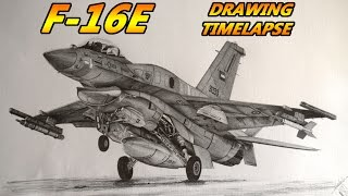 F-16E - United Arab Emirates - Air Force - Timelapse drawing