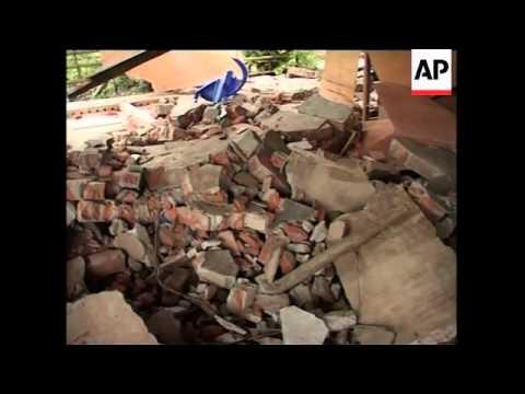 Aerials, ground shots of quake devastation