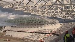 Das neue Stadion des SC Freiburg nimmt Gestalt an
