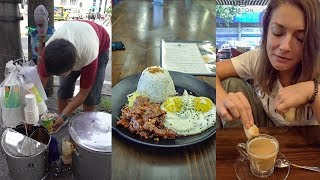 Three Filipino Breakfast Favorites - Filipino Food Taste Test in Manila