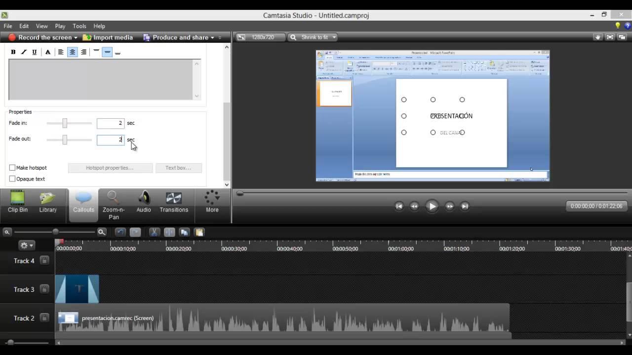 Como poner un texto a un video de Camtasia Studio 8 - YouTube