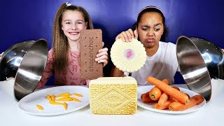 REAL FOOD VS CHOCOLATE FOOD CHALLENGE!!