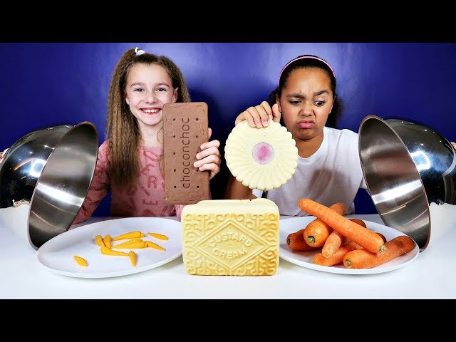 Real Food Vs Chocolate Food Challenge Videos For Kids