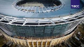 Строители закончили монтаж навеса над трибунами  Екатеринбург Арены