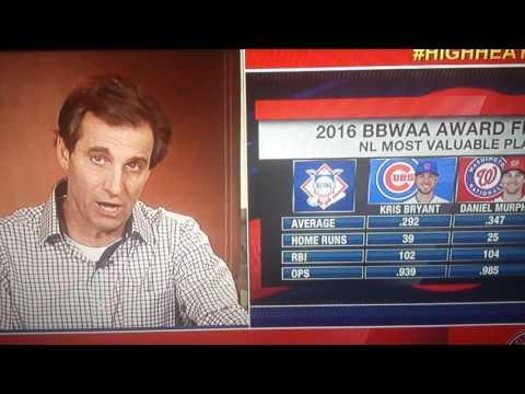 Chris Russo on MLB awards AL MVP NL MVP!