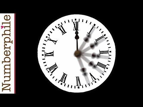 When do clock hands overlap?  Numberphile