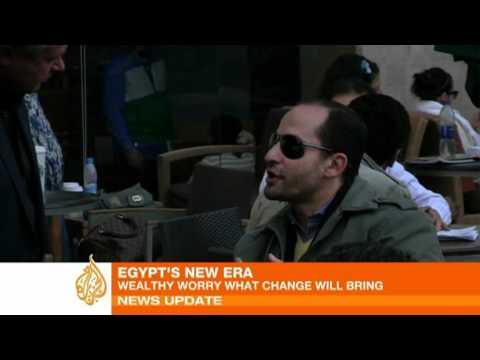 Wealthy Egyptians fear change