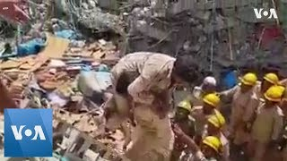 Three Rescued After 70 Hours Under Collapsed Indian Building thumbnail