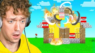 They Blew My Minecraft House Up...