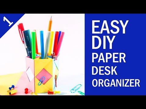 EASY DIY PAPER DESK ORGANIZER TUTORIAL | Back to School Project | Part 1