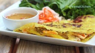 Cách làm bánh xèo giòn (Vietnamese savory crepe)