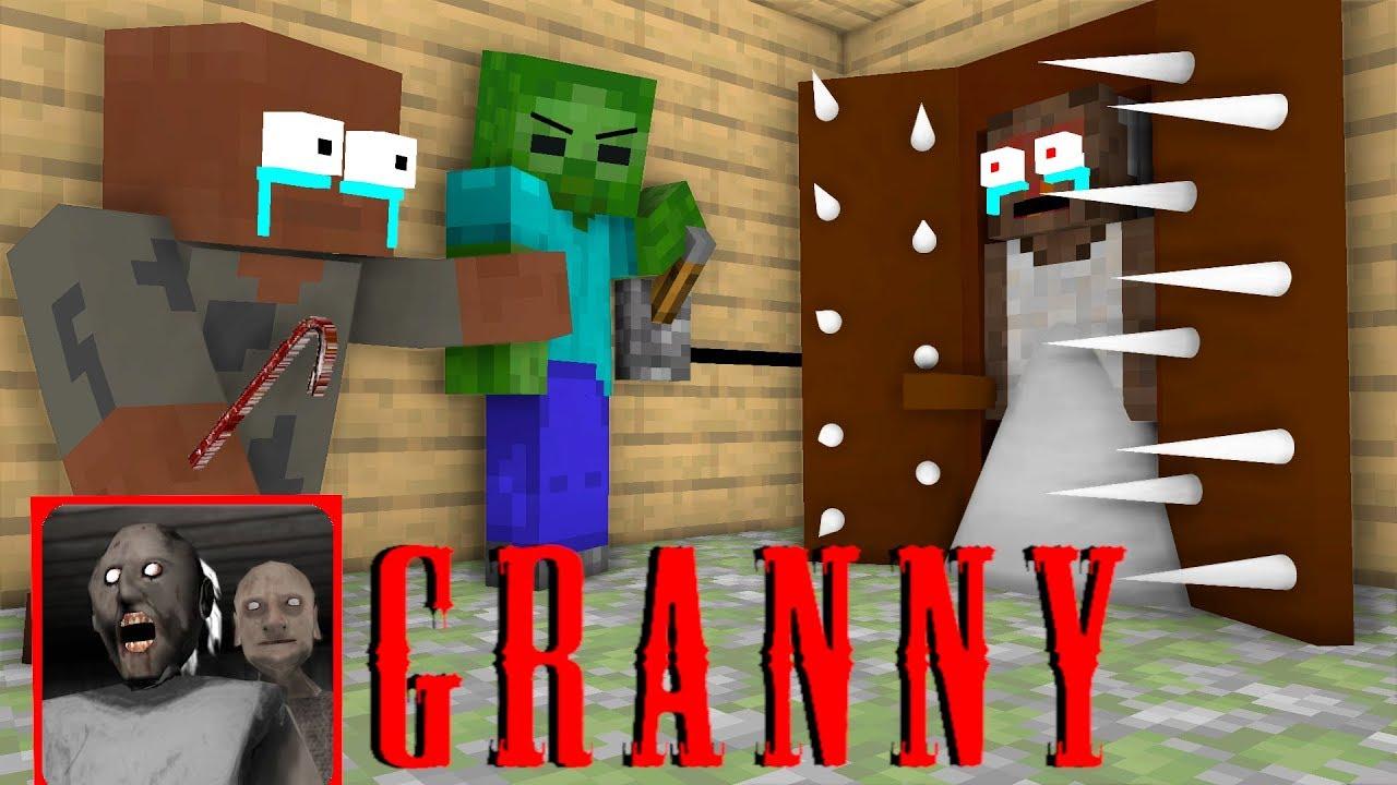 Monster School : GRANNY CHAPTER 8 CHALLENGE - Minecraft Animation