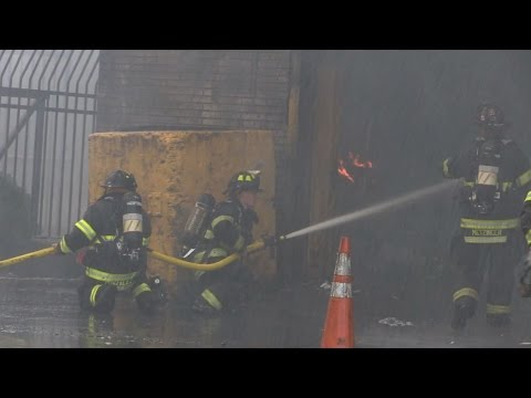 3 firefighters injured in NJ recycling plant fire