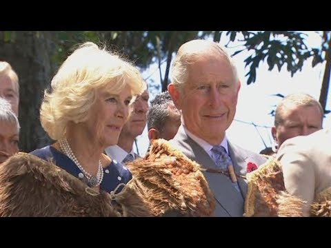 Prince Charles And His Wife Camilla Touch Down In Auckland Sunday Morning
