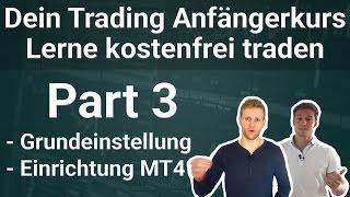 Teil 3: Grundeinstellungen, Einrichtung Metatrader 4 - Kostenloser Trading Anfängerkurs