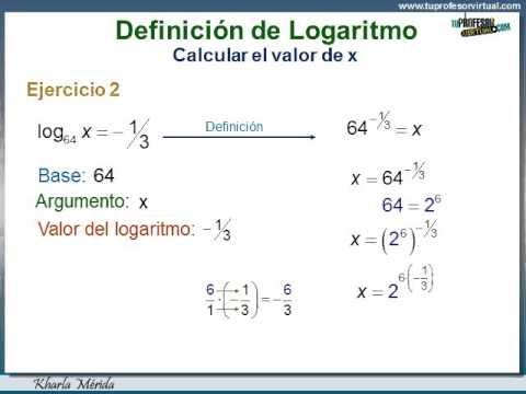 LOGARITMO. Definición. Calcular el Valor de x - YouTube