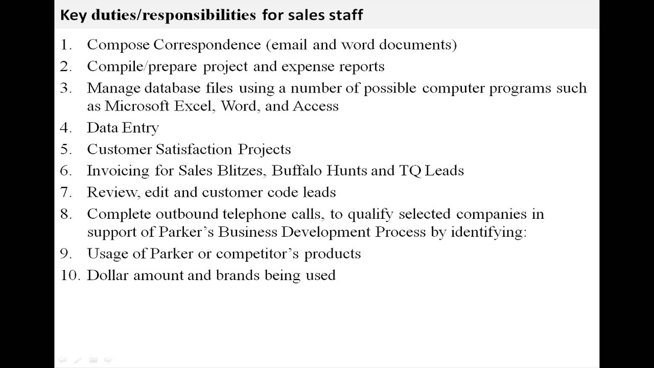 s staff job description s staff job description