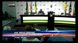 ANC NEC media briefing