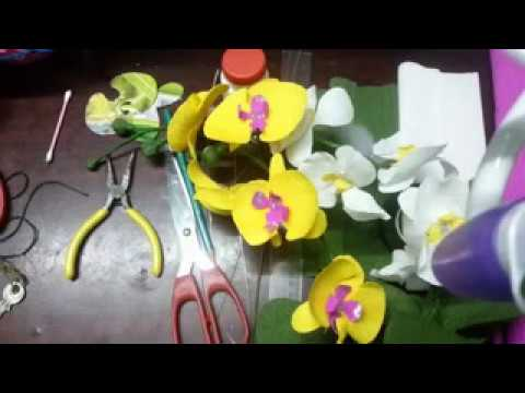 Handmade   How to make paper flowers – Orchids fast version low