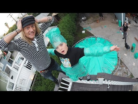 Bubble Wrap Trampoline with Rocco Piazza!! (SKETCHY)