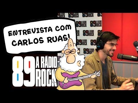 Carlos Ruas dá entrevista para a rádio 89 a rádio rock!