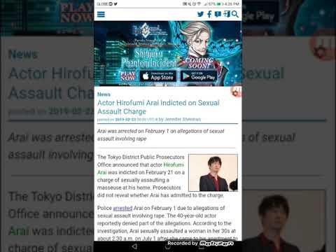 Actor Hirofumi Arai Indicted on Sexual Assault Charge