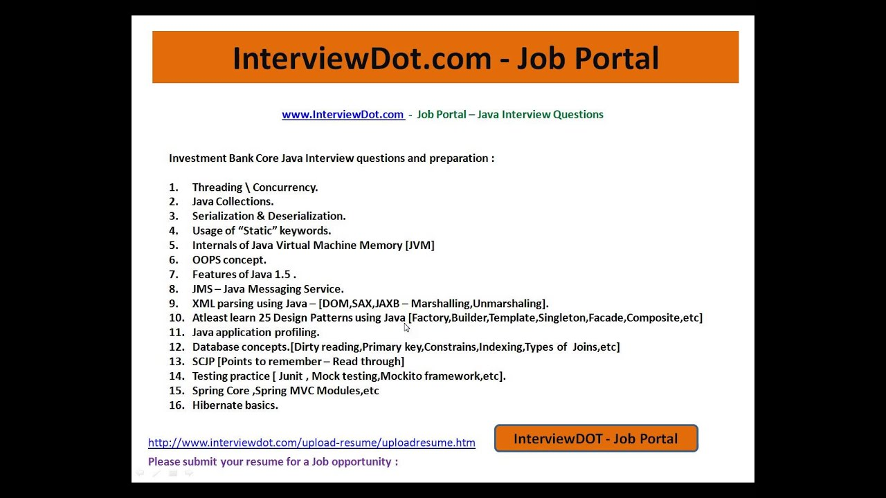invesment banking java interview question and answer youtube - Investment Banking Interview Questions Answers Guide Tips