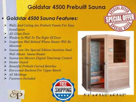 Premium pre built Western Red Cedar sauna at a huge discount
