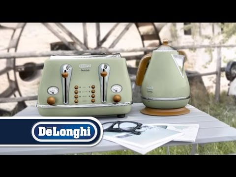 De'Longhi Vintage Icona kettle and toaster breakfast set