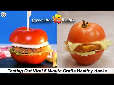 Testing Out Viral Food Hacks By 5 MINUTE CRAFTS | Testing 5 Minute Crafts Healthy Hacks |HungerPlans